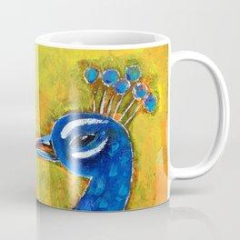 Peacock art: GLOW Coffee Mug