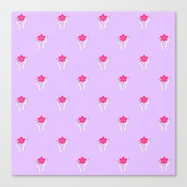 Holy orchid pattern Canvas Print