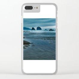 Seascape in Blue Clear iPhone Case