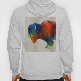 Buffalo Animal Print - Wild Bill - By Sharon Cummings Hoody