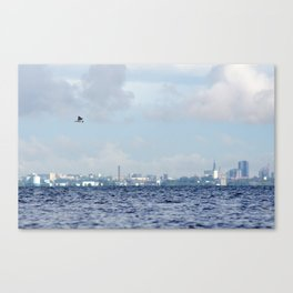 Watching Over The City Canvas Print