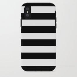 Black White Stripe Minimalist iPhone Case