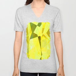 Pale Yellow Poinsettia 1 Abstract Polygons 2 Unisex V-Neck