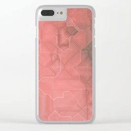 future fantasy terracotta Clear iPhone Case