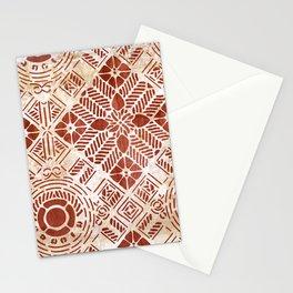 Decorative Vintage Pattern Sanguine Red Stationery Cards