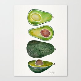Avocado Slices Canvas Print