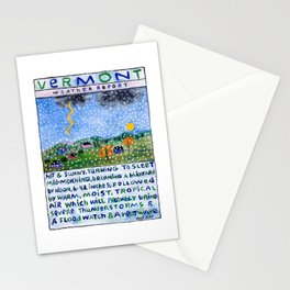 Vermont Weather Report Stationery Cards