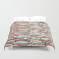 candy Duvet Covers featuring Candy by Pom Graphic Design