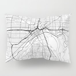 St Paul Map White Pillow Sham