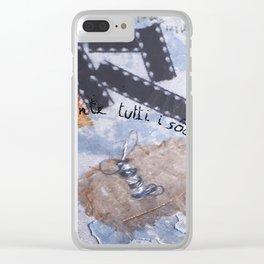 Ho in mente tutti i sogni del mondo Clear iPhone Case