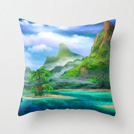 Treasure Island Throw Pillow