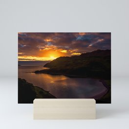 Camas nan Geall Sunset Ardnamurchan Scotland Mini Art Print