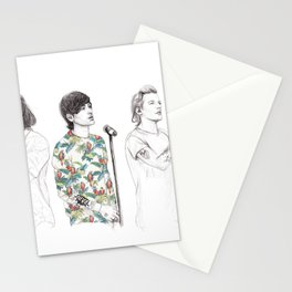 1d on stage Stationery Cards