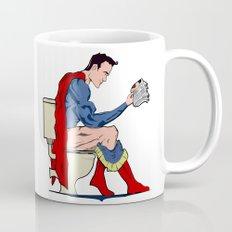 Superhero On Toilet Mug