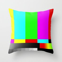 SMPTE Television TV Color Bars Throw Pillow
