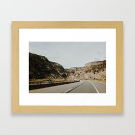 Canyon Highway Framed Art Print