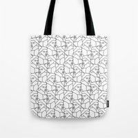 queens of the stone age Tote Bags featuring Queens by muchö