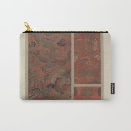 Verneuil - Japanese paper and fabric designs (1913) - 64: Dragon; birds; plants; rosettes; paulownia Carry-All Pouch