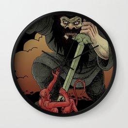 Shoki the demon queller Wall Clock