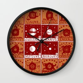 Twelve precious stones Wall Clock