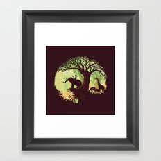 The jungle says hello Framed Art Print
