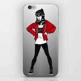 Red Sweater - B&W Variant  iPhone Skin