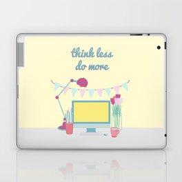 think less do more Laptop & iPad Skin