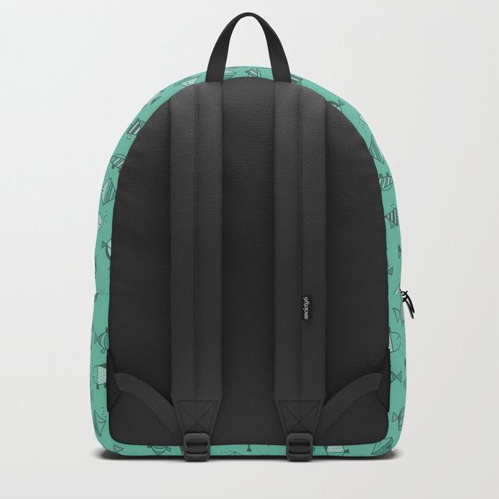 Geometric fish Backpack