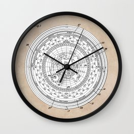 patent art Allen Universal time clock and hour angle indicator 1953 Wall Clock