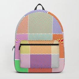 Colorful Vintage Quilt Pattern Design Backpack