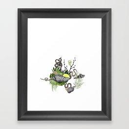 shells and snakes Framed Art Print