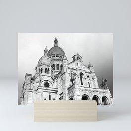 French Sacre Coeur church in Paris Mini Art Print
