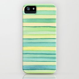 Green stripes. iPhone Case