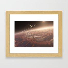 Titan: in the Bonestellosphere Framed Art Print