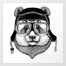 Panta Helmet and glasses Art Print