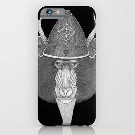 Mandril Samurai (b&w version) iPhone Case