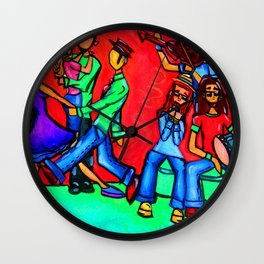 Groove Session Wall Clock