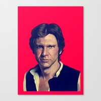 han solo Canvas Prints featuring Han Solo  by Jemma Klein