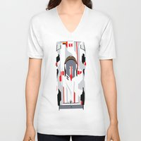 tron V-neck T-shirts featuring E-Tron by Arch Duke Maxyenko