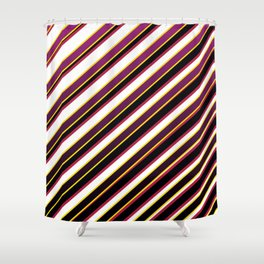 TEAM COLORS 1...Purple ,fade to black, gold red Shower Curtain