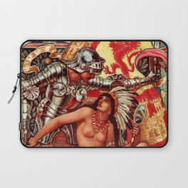 "Walter Crane ""Columbia's Courtship - Spain Conquered"" Laptop Sleeve"