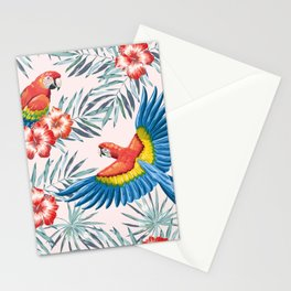 Macaw parrots in the jungle Stationery Cards