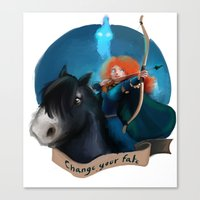 merida Canvas Prints featuring Merida by Fla'Fla'