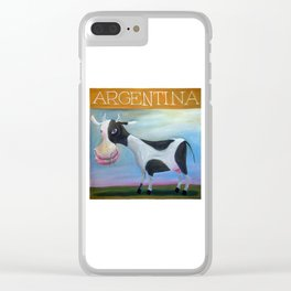 vaca argentina Clear iPhone Case