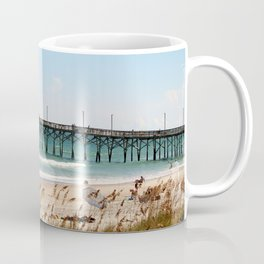 Beachgoers At Topsail Coffee Mug