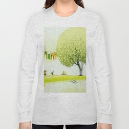 BY THE RIVER-SELLING FLOWERS Long Sleeve T-shirt