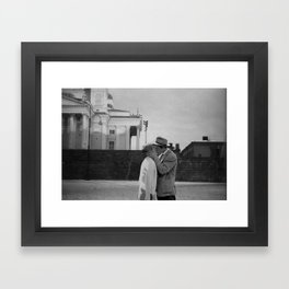 Collage Á bout de souffle (Breathless) - Jean-Luc Godard Framed Art Print