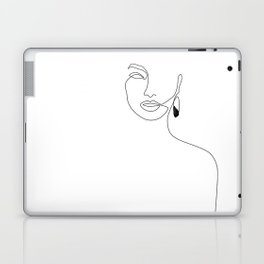 Black Earring Laptop & iPad Skin