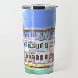 New Orleans Paddle Steamer Pop Art Travel Mug