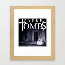 Paper †omb$ Framed Art Print
